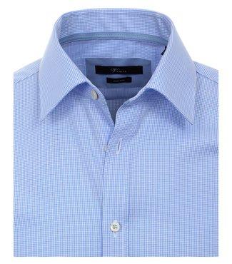 Venti Slim-Fit Regular Light Blue geruit